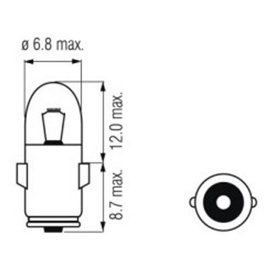 Żarówka pomocnicza i sygnalizacyjna 24V 3W BA7s CarCommerce