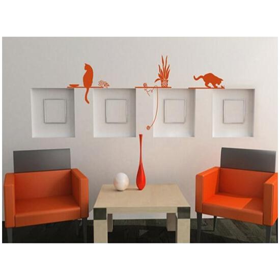 Naklejka dekoracyjna welurowa koty 672005-18 Klimaty Domu