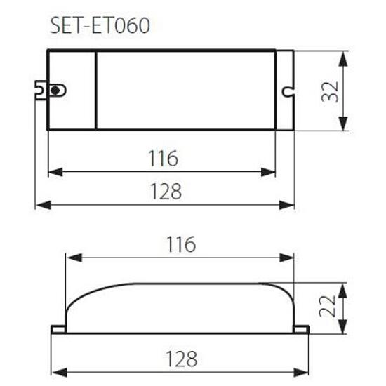 Transformator 1-fazowy zasilacz halogenowy SET-ET060 60W Kanlux