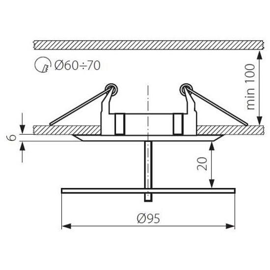 Oprawa punktowa DINO CTX-DS02G/B-C Kanlux