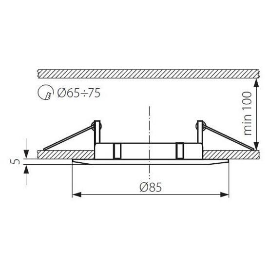 Oprawa punktowa LUTO CTX-DS02B-C Kanlux