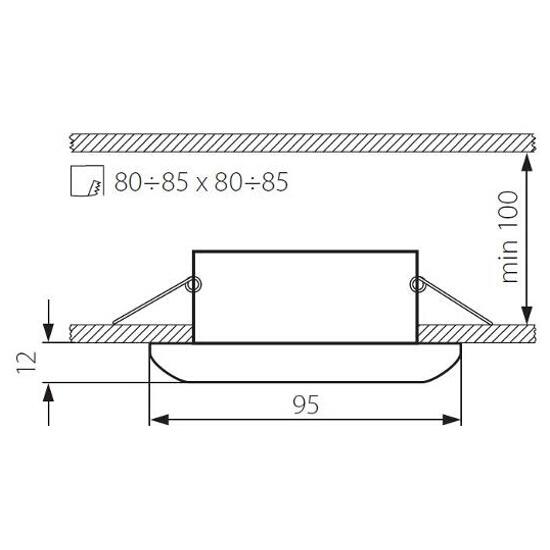 Oprawa punktowa schodowa RESO CTX-KW10-C/M matowy chrom Kanlux