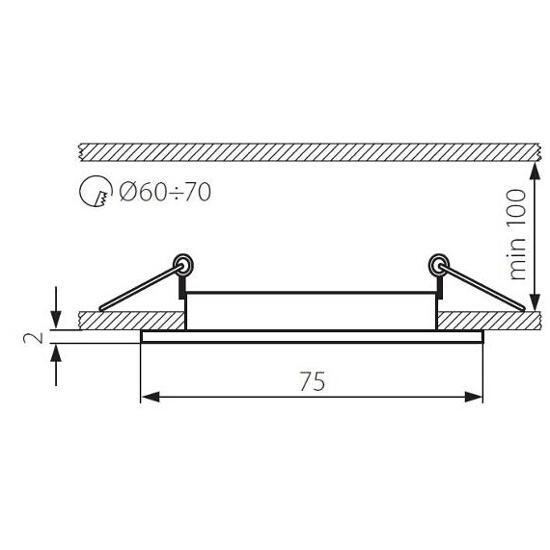 Oprawa punktowa sufitowa NAVI CTX-DS10-AB patynowany mosiądz Kanlux