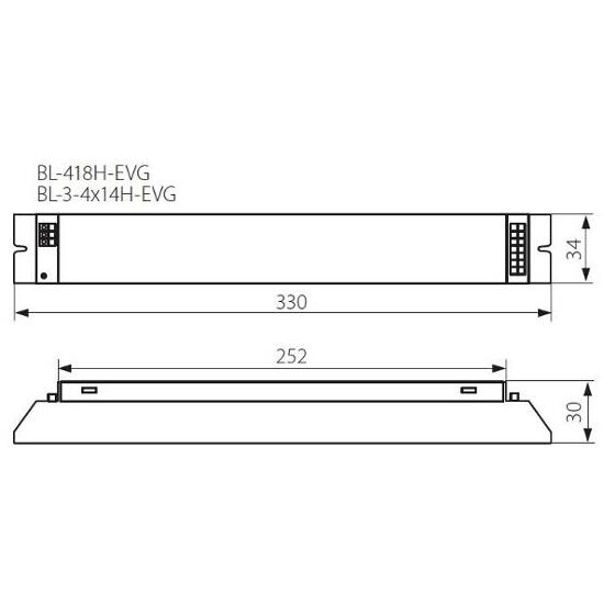 Statecznik do świetlówek T5 BL-3-4x14H-EVG 3-4x14W Kanlux