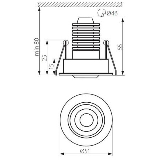 Oprawa podszafkowa SABBA DL-POWER LED aluminium Kanlux