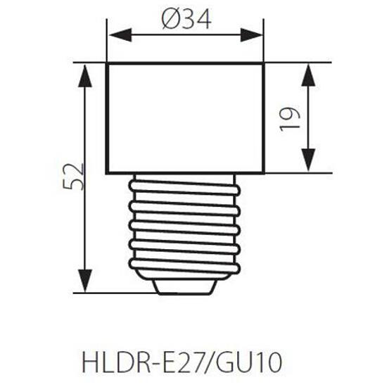 Oprawka przejściówka ceramiczna E27 na GU10 HLDR-E27/GU10 Kanlux