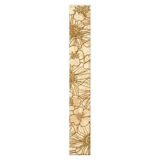 Płytka ścienna Flores krem gold 35x5