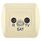 Gniazdo ścienne Akord anten. RTV-SAT końcowe AAS/12 beżowy Kontakt Simon