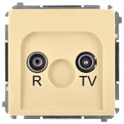 Gniazdo modułowe Basic anten. RTV końcowe BMZAK10/1.01/12 beżowy Kontakt Simon