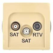 Gniazdo RTV modułowe Basic anten. SAT/SAT/RTV końcowe BMZAR+SAT3.1-P2.01/12 beżowy Kontakt Simon
