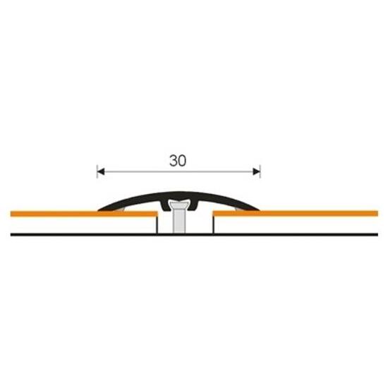 Listwa dylatacyjna 30mm ALU buk 14 dł. 0,93m 1-10100-14-093 Aspro
