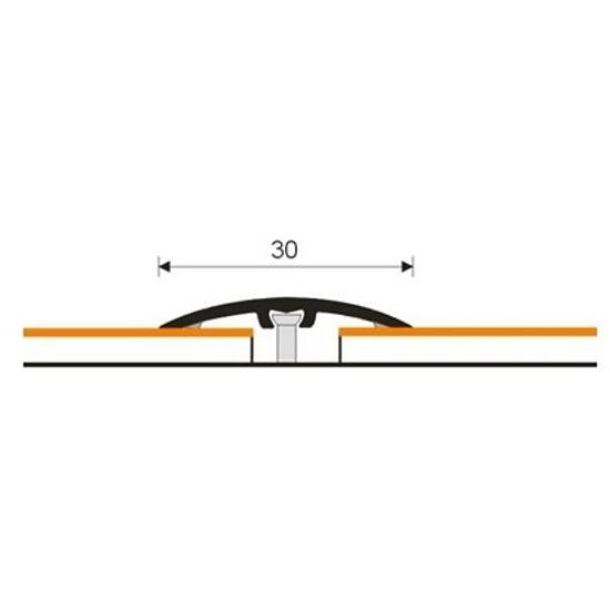 Listwa dylatacyjna 30mm ALU olcha 23 dł. 0,93m 1-10100-23-093 Aspro