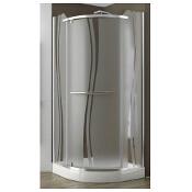 Kabina prysznicowa półokrągła PUENTA SWING 90 100-06326 Aquaform