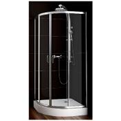 Kabina prysznicowa półokrągła NIGRA 80 100-091111 Aquaform
