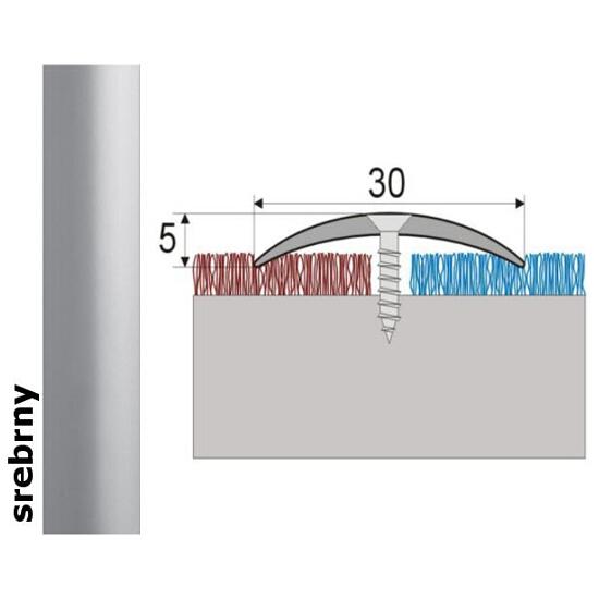 Listwa dylatacyjna Effect Standard A03 srebro 180cm Effector