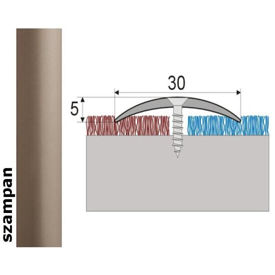 Listwa dylatacyjna Effect Standard A03 szampan 93cm Effector