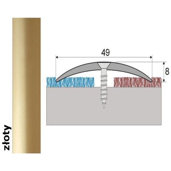 Listwa dylatacyjna Effect Standard A04 złoto 93cm Effector