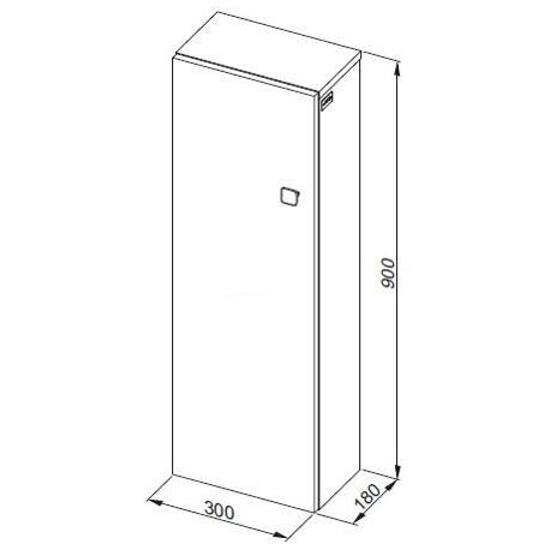 Słupek łazienkowy FLEX 90 0410-640108 Aquaform