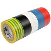 Zestaw taśm elektroinstalacyjnych 19mmx20mx0.13mm mix kolorów YT-8173 Yato