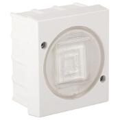 Łącznik natynkowy LAMBDA z melaminy zwierny dzwonek biały Ospel