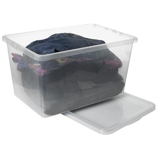 Pojemnik do przechowywania z pokrywą BASIC 48L przezroczysty Plast Team