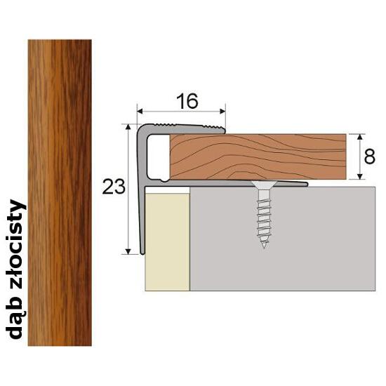 Listwa schodowa Effect Standard A60 dąb złocisty 90cm Effector
