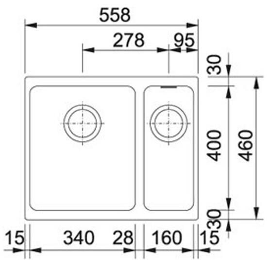 Zlewozmywak granitowy Kubus KBG 160 grafitowy 125.0072.749 Franke