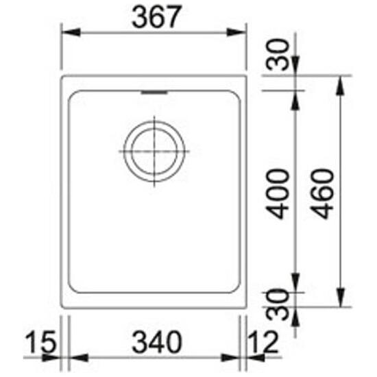 Zlewozmywak granitowy Kubus KBG 110-34 grafitowy 125.0073.031 Franke