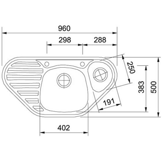 Zlewozmywak Calypso COG 651 960x500mm E Biały polarny 114.0192.562 Franke