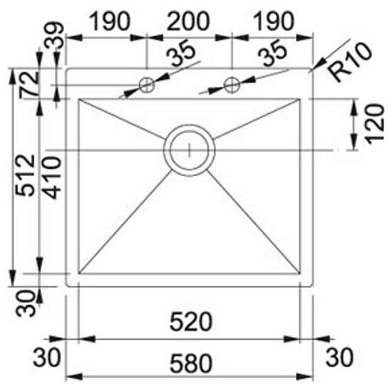 Zlewozmywak Planar PPX 610/210-58 127.0203.469 Franke