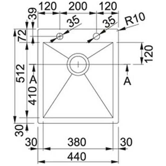 Zlewozmywak Planar PPX 610/210-44 127.0203.470 Franke
