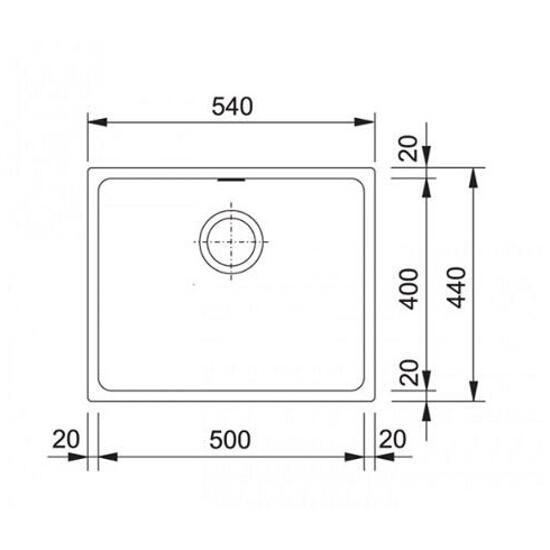 Zlewozmywak granitowy Kubus KBG 110-50 biały polarny 125.0250.157 Franke