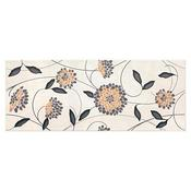 Płytka ścienna SYNTHIA biała inserto kwiaty błyszcząca 20x50 gat. I