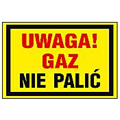 """Znak informacyjny """"Uwaga gaz nie palić"""" Z-19G-F rozm. 250x350 ANRO"""